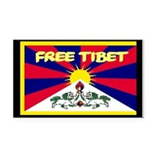 Free Tibet Rectangle Car Magnet