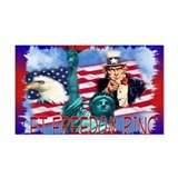 Let Freedom Ring Rectangle Car Magnet