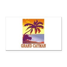 Grand Cayman Rectangle Car Magnet