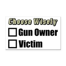 """Gun Owner Or Victim?"" Rectangle Car Mag"