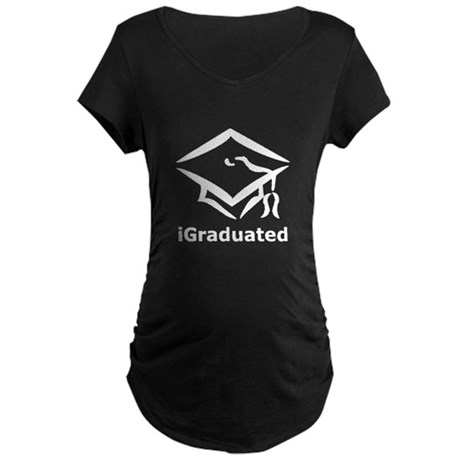 iGraduated Black.png Maternity Dark T-Shirt
