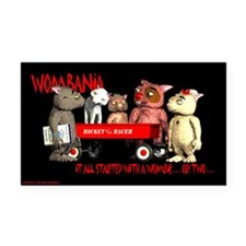 "Wombania 3"" x 5"" Rectangle Car Magnet"