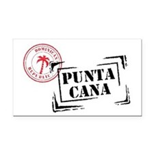 Punta Cana Passport Stamp Rectangle Car Magnet