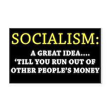 Anti-Socialism Bumper Rectangle Car Magnet