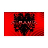 Cute Albania Rectangle Car Magnet