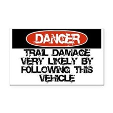 Trail Damage Likely Rectangle Car Magnet