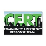 Community Emergency Response Rectangle Car Magnet