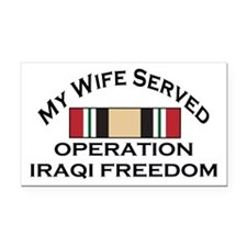 My Wife Served OIF Rectangle Car Magnet