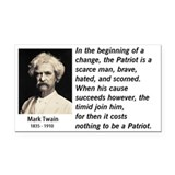 Mark Twain Patriotism Rectangle Car Magnet