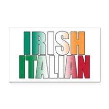 Irish Italian Rectangle Car Magnet