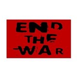 end the war... Rectangle Car Magnet