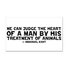 Heart of a Man - Kant Rectangle Car Magnet
