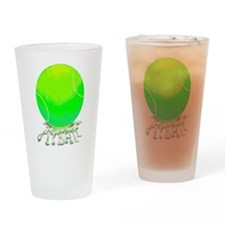 2-tennis ball w spit.png Drinking Glass