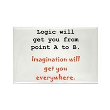 Imagination Everywhere Black.png Rectangle Magnet
