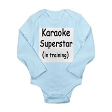 Cute Karaoke Long Sleeve Infant Bodysuit
