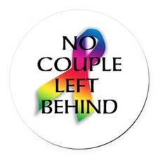 Unique Gay marriage Round Car Magnet