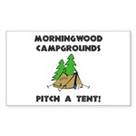 Morningwood Campgrounds Black.png Sticker (Rectang