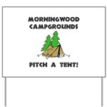 Morningwood Campgrounds Black.png Yard Sign