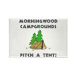 Morningwood Campgrounds Black.png Rectangle Magnet