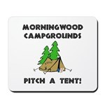 Morningwood Campgrounds Black.png Mousepad