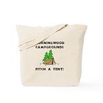 Morningwood Campgrounds Black.png Tote Bag