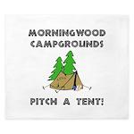 Morningwood Campgrounds Black.png King Duvet