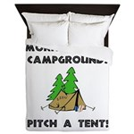 Morningwood Campgrounds Black.png Queen Duvet