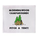 Morningwood Campgrounds Black.png Throw Blanket