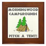 Morningwood Campgrounds Black.png Framed Tile