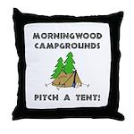 Morningwood Campgrounds Black.png Throw Pillow