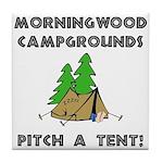 Morningwood Campgrounds Black.png Tile Coaster
