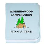 Morningwood Campgrounds Black.png baby blanket