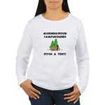 Morningwood Campgrounds Black.png Women's Long Sle
