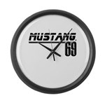 Mustang 69 Large Wall Clock