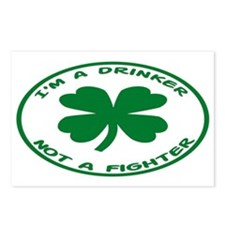 Drinker Not A Fighter Postcards (Package of 8)