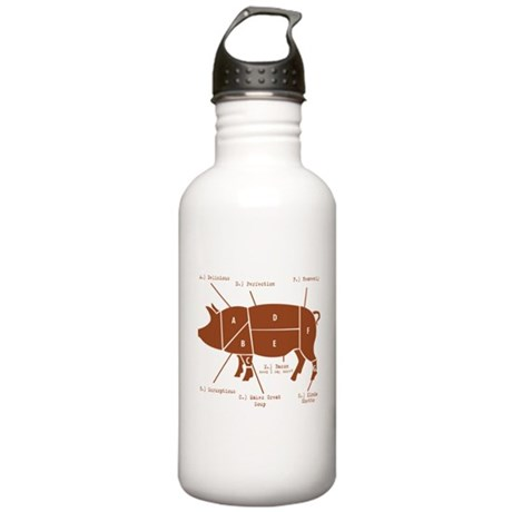 Delicious Pig Parts! Stainless Water Bottle 1.0L