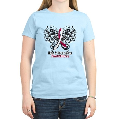 Butterfly Head Neck Cancer Women's Light T-Shirt