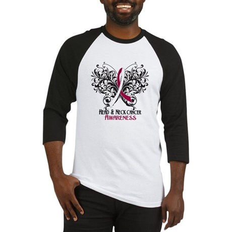 Butterfly Head Neck Cancer Baseball Jersey