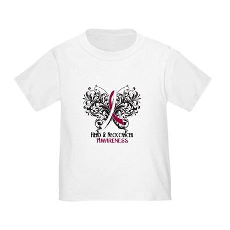 Butterfly Head Neck Cancer Toddler T-Shirt
