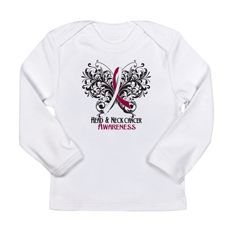 Butterfly Head Neck Cancer Long Sleeve Infant T-Sh