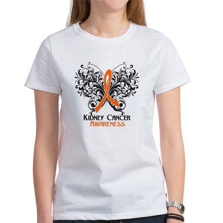 Butterfly Kidney Cancer Women's T-Shirt