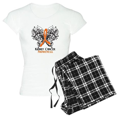 Butterfly Kidney Cancer Women's Light Pajamas