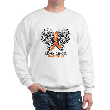 Butterfly Kidney Cancer Sweatshirt