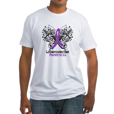 Butterfly Leiomyosarcoma Fitted T-Shirt