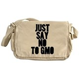 just say no to gmo Messenger Bag