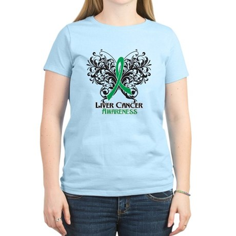 Butterfly Liver Cancer Women's Light T-Shirt