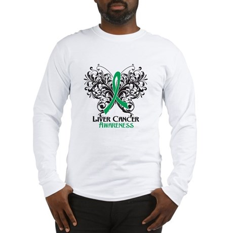 Butterfly Liver Cancer Long Sleeve T-Shirt