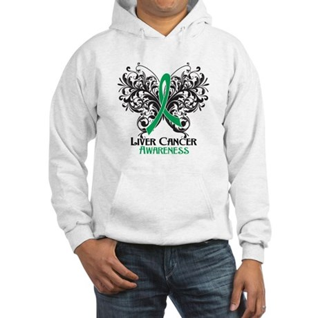 Butterfly Liver Cancer Hooded Sweatshirt
