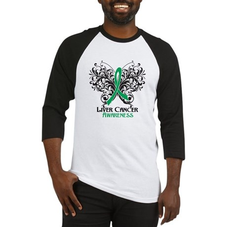Butterfly Liver Cancer Baseball Jersey