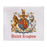 Royal Coat Of Arms Throw Blanket